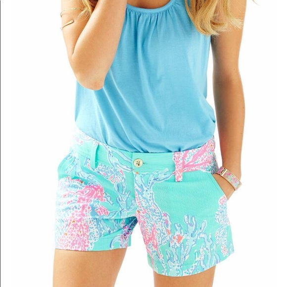 3213ce5602cb50 Lilly Pulitzer Shorts | Lily Pulitzer Womens Callahan Floral Sz 00 ...